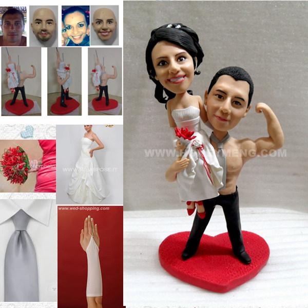 custom cake toppers figurines bodybuilder