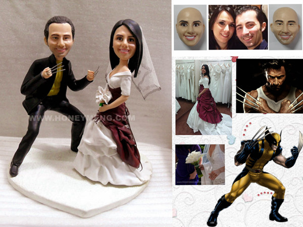 custom wedding cake toppers Wolverine