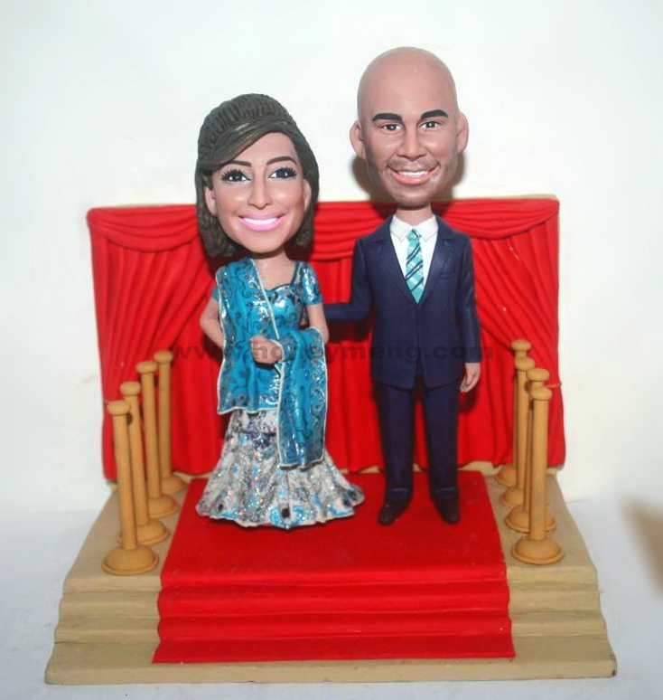 Indian bride Wedding cake toppers