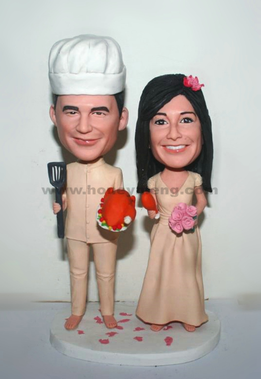 The cook couple Weeding Cake Toppers