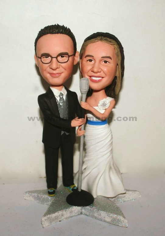 Grammy star Weeding cake toppers