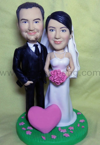 custom Wedding Cake figurines BW30