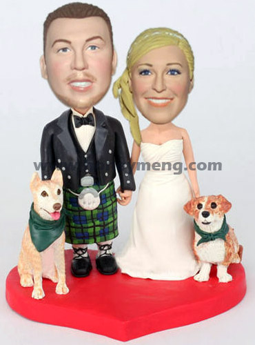 Irish Wedding Cake Figurines - Click Image to Close