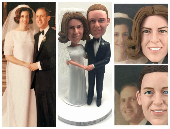 Duplicate Wedding Figurines From Old Wedding Pictures