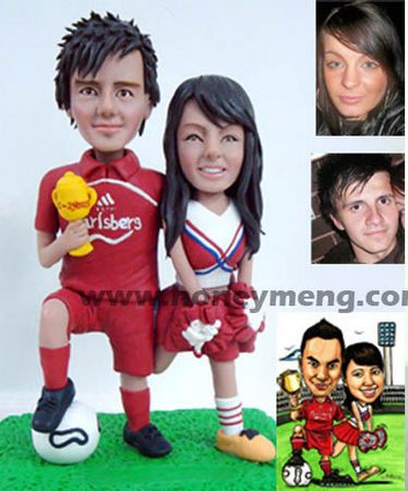 Anniversary Gifts Custom Figurines Football Fans