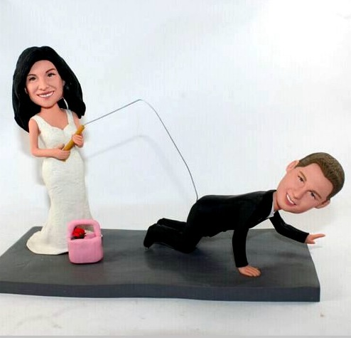 Fishing Themed Wedding Cake Toppers Figurines