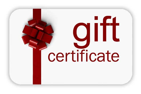 100 gift certificate for custom wedding gifts gift certificate