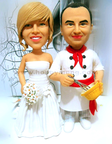 Custom Wedding Cake Toppers Figurines Cook