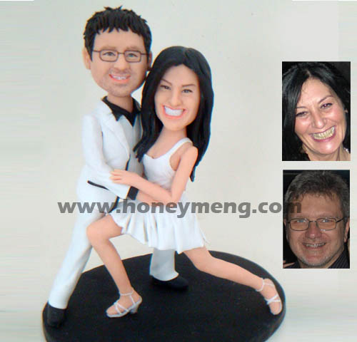 Fully Customized Cake Toppers Dancing