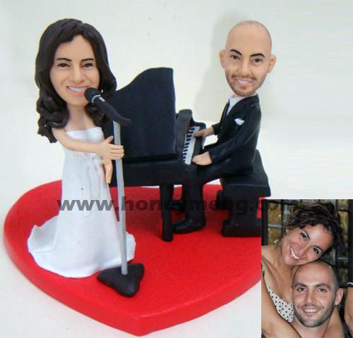 Fully Customized Cake Toppers Singing Bride