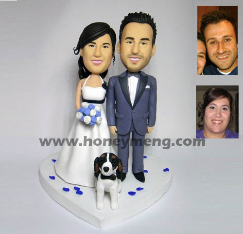 Fully Customized Cake Toppers With Pet