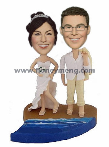 Custom Wedding Figurines On Beach