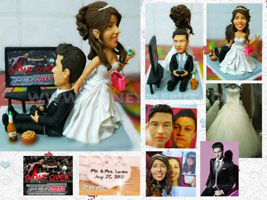 custom cake toppers funny game over