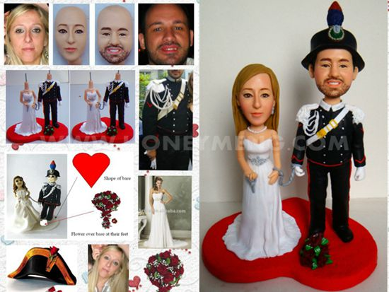 custom wedding cake toppers military