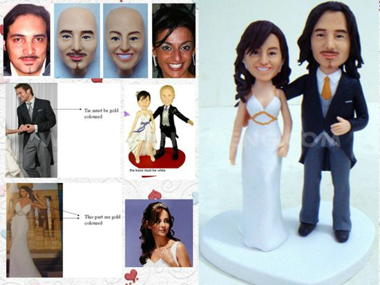 custom wedding cake toppers dancing