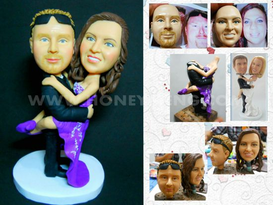 custom wedding cake toppers figurines