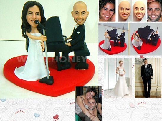 custom wedding cake toppers singsing
