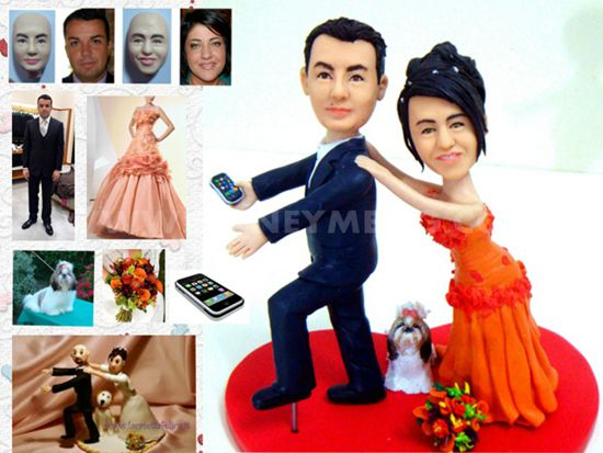 custom wedding cake toppers funny