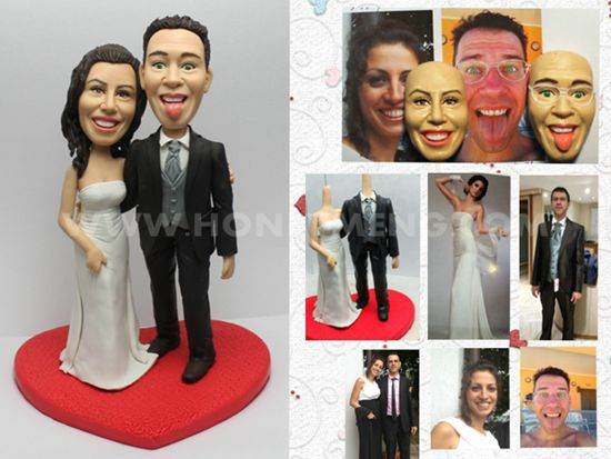 custom cake toppers funny make face