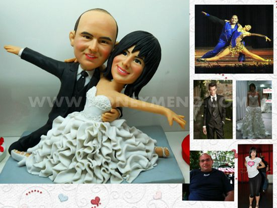 Tango Wedding Cake Topper Custom Figurines My Face