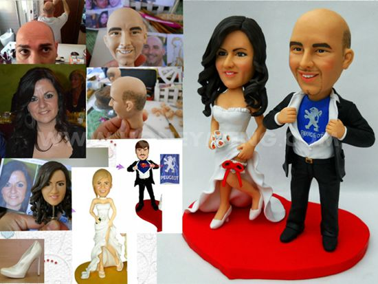 Custom Cake Toppers Superman Peugeot My face custom figurines